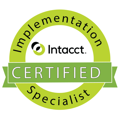 Intacct Certifications Specialist